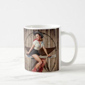 Barn Wood Texas Star western country Cowgirl Classic White Coffee Mug