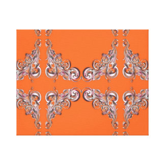baroque pattern stretched canvas prints