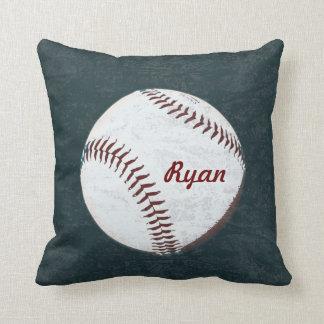 Baseball ball - vintage styled throw pillows