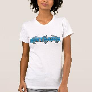 Batman | Blue Name Logo T Shirt