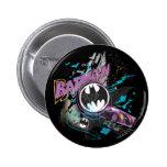 Batman Gotham Skyline Sketch 2 Inch Round Button