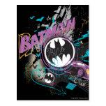 Batman Gotham Skyline Sketch Postcard