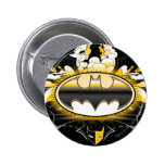 Batman Logo with Cars 2 Inch Round Button