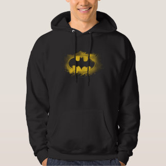 Batman Symbol | Black and Yellow Logo Hooded Pullovers