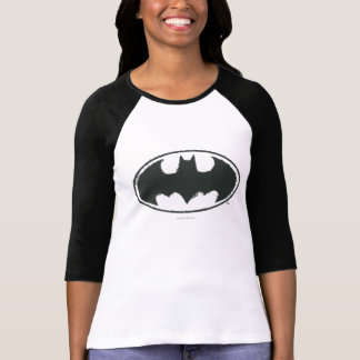 Batman Symbol | Spray Black White Logo T Shirt