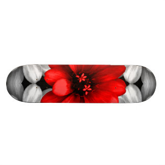 Be Different Red Flower Skateboard