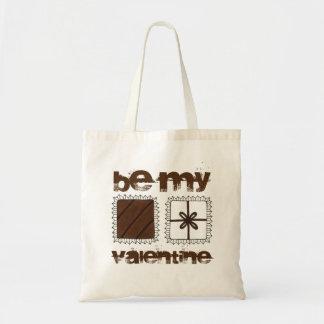 Be My Valentine Valentine's Day Chocolates Tote Budget Tote Bag