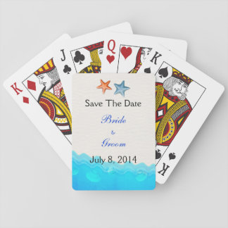 Beach With Starfish Save The Date Card Deck