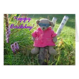Bear-in-Shades, Happy Birthday! Greeting Card
