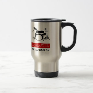 Beat of a Drummer's Heart 15 Oz Stainless Steel Travel Mug