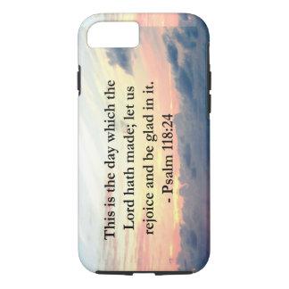 BEAU LEVER DE SOLEIL DE 118:24 DE PSAUME AU-DESSUS COQUE iPhone 7