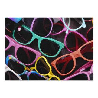 """Beautiful Colorful sunglasses 5"""" X 7"""" Invitation Card"""