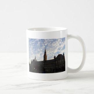 Beautiful school building and sky classic white coffee mug