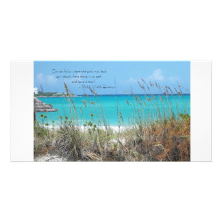 Beauty on the beach..... photo greeting card
