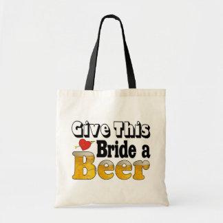 Beer Bride Budget Tote Bag