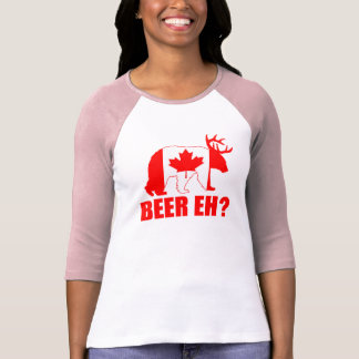 BEER EH?  Funny Bear Deer Canadian Flag Tshirts