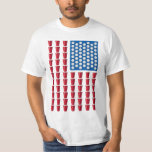 Beer Pong Drinking Game American Flag Shirts