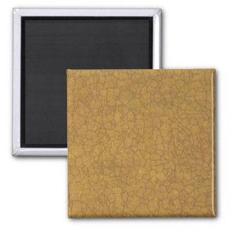 Beige Crackle Square Magnet