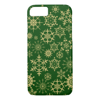 Beige Snowflakes iPhone 7 Case