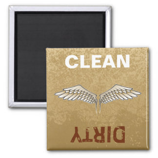 Beige wings square magnet
