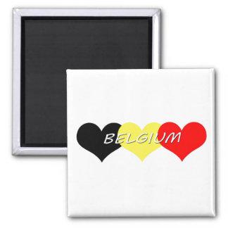 Belgium Square Magnet