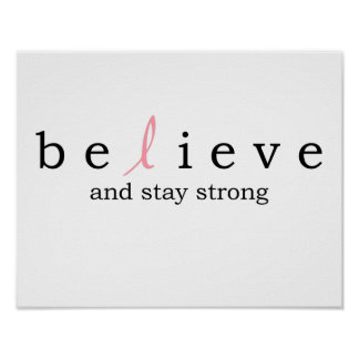 Believe Cancer Poster