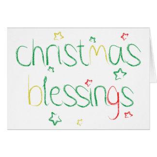 Bénédictions de Noël Carte De Vœux
