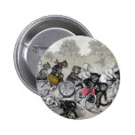Bicycle Riding Cats 2 Inch Round Button