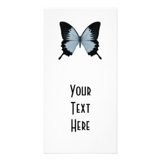 Big Blue & Black Butterfly Photo Card Template