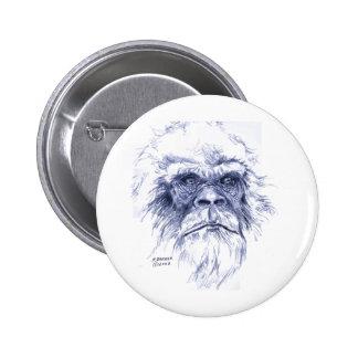 Big Blue Sasquatch 2 Inch Round Button