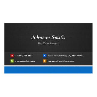 Big Data Analyst - Professional Customizable Business Card