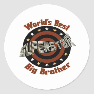 Big, Little, Middle Brother Gifts Round Sticker