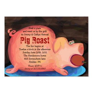 BIG PIGGY Pig Roast Bar-B-Que Party Invitation