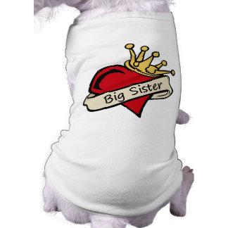 Big Sister Heart Tattoo Dog Clothes