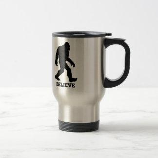 Bigfoot BELIEVE Sasquatch 15 Oz Stainless Steel Travel Mug
