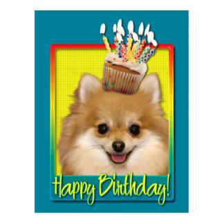 Birthday Cupcake Pomeranian Postcard