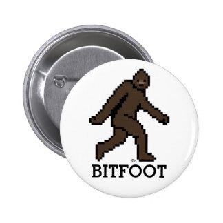 Bitfoot (the 8-bit Bigfoot) 2 Inch Round Button
