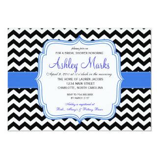 "Black and Blue 5"" X 7"" Invitation Card"