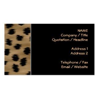 Black and Brown Cheetah Print Pattern. Business Card