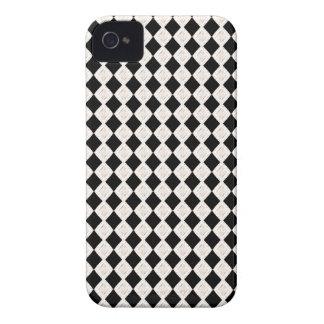 Black And White Argyle Art Pattern Blackberry Case