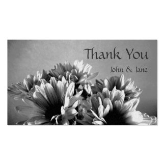 Black and white Flowers Wedding Thank You Card Business Card