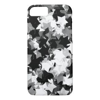 Black and White Kawaii Stars Background iPhone 7 Case