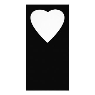 Black and White Love Heart Design. Photo Greeting Card