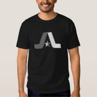"Black and White Old School ""A"" Logo Tees"