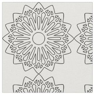 Black and White Star Fabric