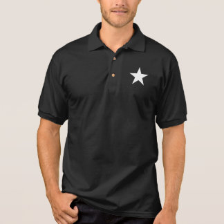 Black and White Star Polo