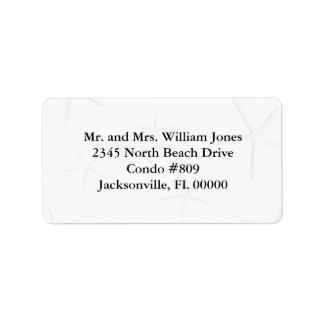 Black and White Starfish Custom Address Labels