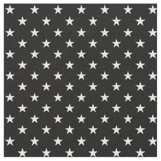 Black and White Stars Fabric