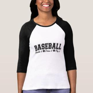 Black Baseball Breathe It Dream It Play It Tees