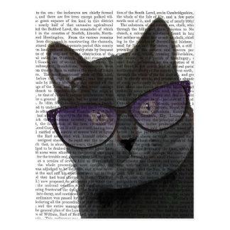 Black Cat with Sunglasses 2 Postcard